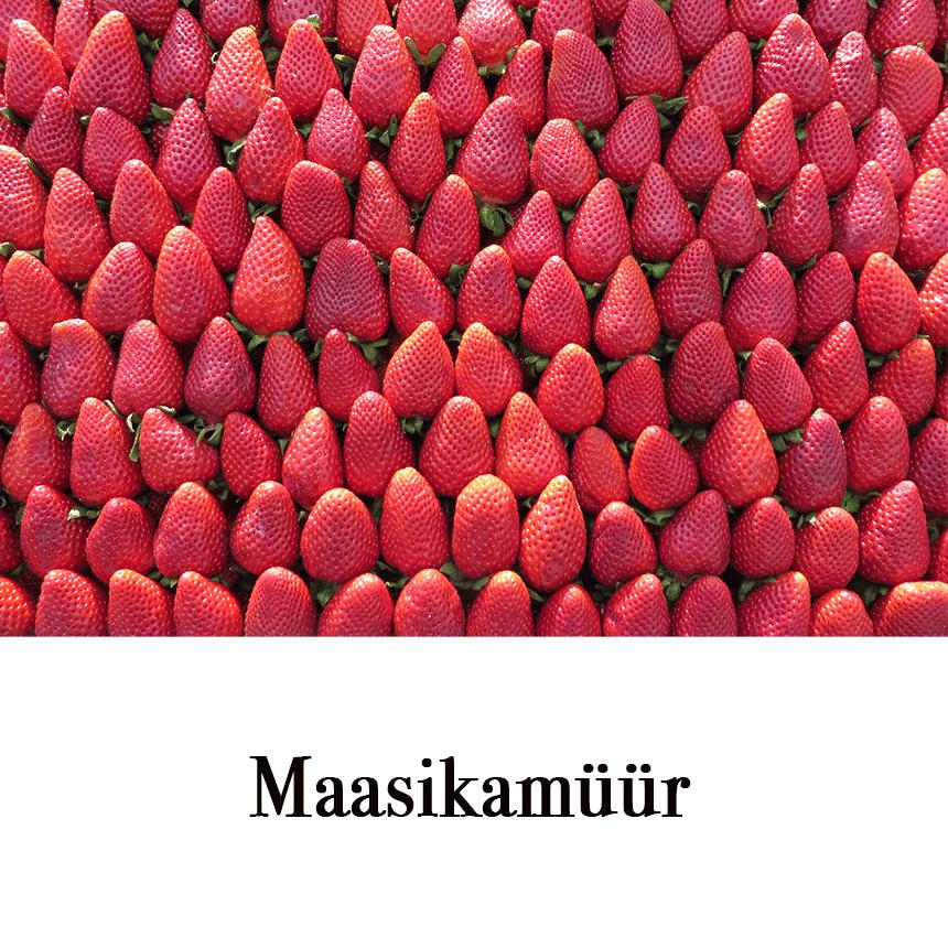 """Suur õnnitluskaart """" Maasikamüür"""" € 2.50"""