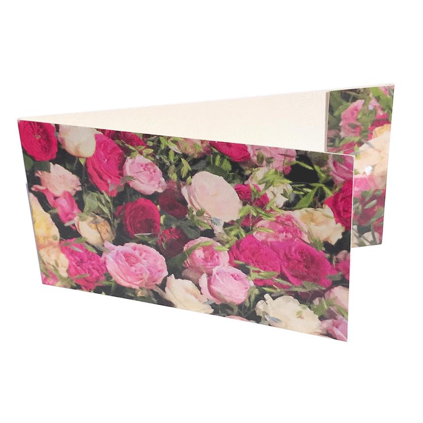 """Väike kaart ehk lillekaart """"Roosid"""" lillekimbule"""