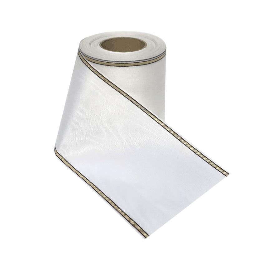 Leinalint valge triipäärega leinakimbule ja matusepärjale